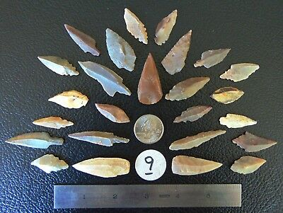 NU9) 25 Uniface unifaced Neolithic Artifacts arrowheads arrow head points Africa