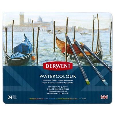 DERWENT Watercolour Pencils Professional Quality Tin 24