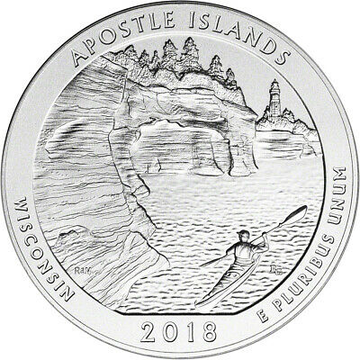 2018-P US America the Beautiful Five Ounce Silver Uncirculated Apostle Islands
