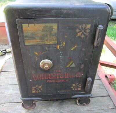 """Small Heavy 1889 Victor Save Co Steel Safe 28"""" by 18"""" 400-500#"""
