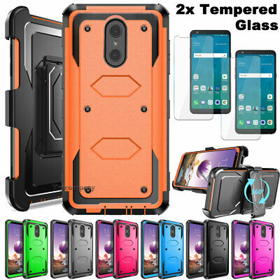 For LG Stylo 3 / Stylo 4 Shockproof Impact HYBRID Armor Rubber Rugged Case Cover
