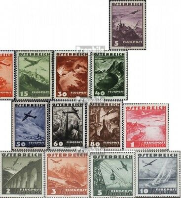 Austria 598-612 (complete issue) with hinge 1935 Airmail