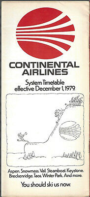 Continental Airlines system timetable 12/1/79 [7084]