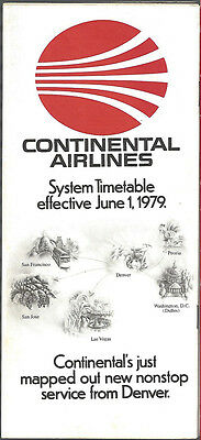 Continental Airlines system timetable 6/1/79 [7084]