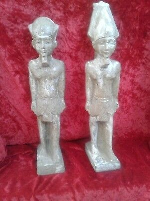 egyptian statue bookends ancient decor mystic historic cultural iconic africa
