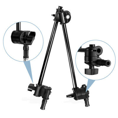 """Adjustable 2 Section Articulating Photography Boom Arm 1/4"""" 3/8"""" Female Thread"""