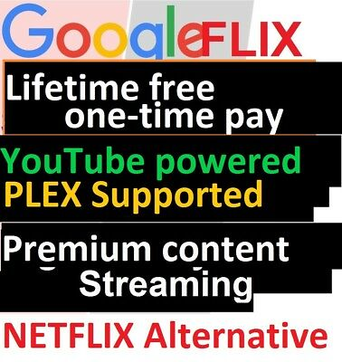 Lifetime Movie TV streaming+Plex Supported+Google Drive Unlimited=NETFLIX ALT