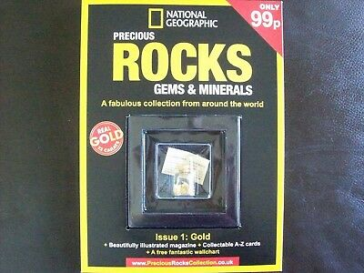 National Geographic Precious Rocks Gems & Minerals Magazine Issue 1 Gold