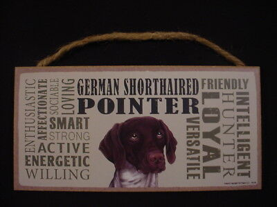 GERMAN SHORTHAIRED POINTER Subway Style DOG SIGN wood WALL PLAQUE Shorthair USA