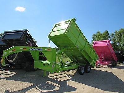 "16 Ft Tandem Axle Gooseneck Dump Trailer--Brand New--48"" Sides Load Trail-Green"