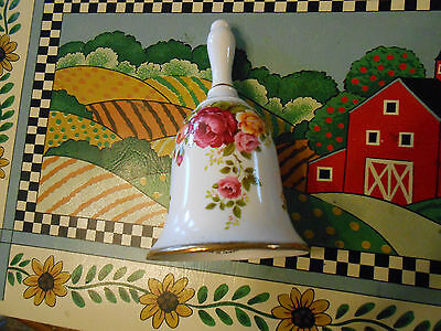 Cottage Rose Fine Bone China Bell Free Shipping!