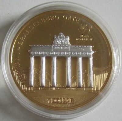 Cook Islands 1 Dollar 2009 World Monuments Brandenburg Gate in Berlin