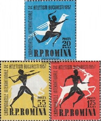 Romania 1666-1668 fine used / cancelled 1957 Athletics-Championship