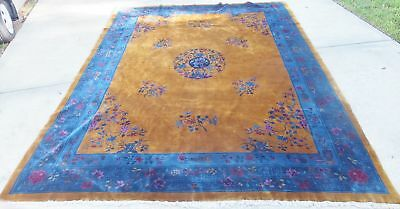 c 1930 s antique gold blue art deco chinese nichols rug 9x12 room rh picclick com 9x12 room square foot 9x12 room convert to sewing room