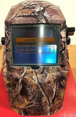 Lincoln Electric K3445-1 Camo Variable Shade 9-13 With Grind Mod Welding Helmet