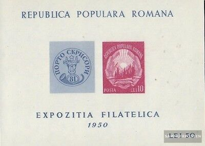 Romania block39 (complete.issue.) unused 1950 Stamp Exhibition