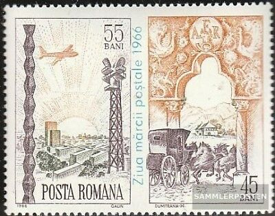 Romania 2552Zf with zierfeld (complete.issue.) fine used / cancelled 1966 Day th