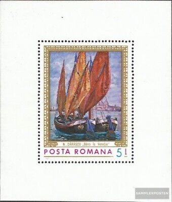 Romania block90 (complete issue) used 1971 Paintings: that Sea