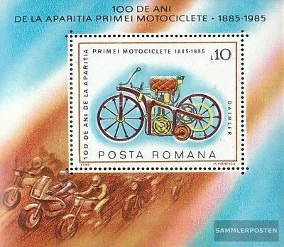 Romania block217 unmounted mint / never hinged 1985 Motorcycles
