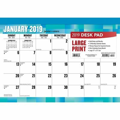 2019 Large Print Desk Pad, Desk Pads by BrownTrout