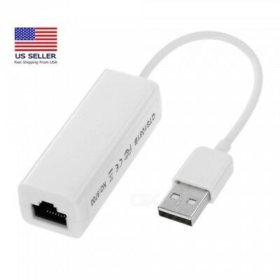 Ethernet RJ45 to USB2.0 10/100Mbps Network LAN Adapter Card Cable Dongle