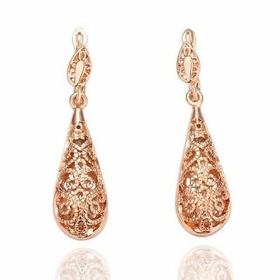 Vintage Women Antique Hollow Stunning Filigree Drop Earrings Jewelry Gift