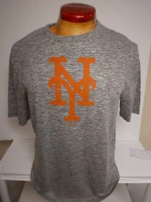 sneakers for cheap 61e07 1b812 New York Mets Workout Shirt Grey Majestic New Mens Pick Size