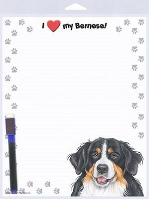 BERNESE MOUNTAIN DOG Mtn puppy DRY ERASE Magnet NOTE Message List MEMO BOARD USA