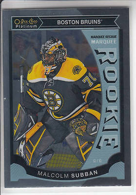 15/16 OPC Platinum Boston Bruins Malcolm Subban RC card #M5