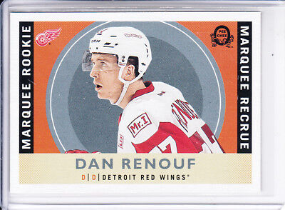 17/18 OPC Detroit Red Wings Dan Renouf Retro Rookie RC card #549