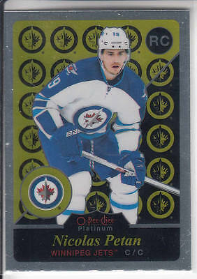 15/16 OPC Platinum Winnipeg Jets Nicolas Petan Retro Rookie RC card #R98