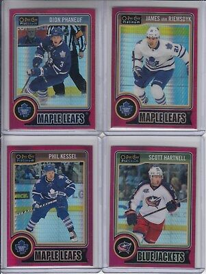14/15 OPC Platinum Toronto Maple Leafs Dion Phaneuf Red Prism #107 Ltd #45/135