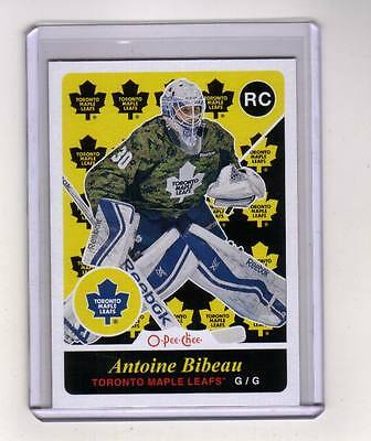 15/16 OPC Toronto Maple Leafs Antoine Bibeau Retro Rookie card #517