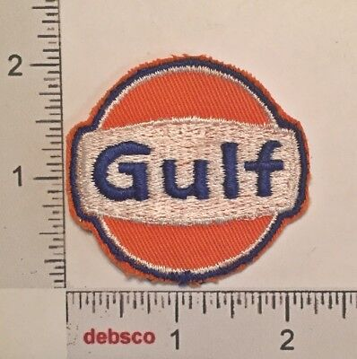 Vintage GULF Oil Gas Auto Car Truck Racing Embroidered PATCH