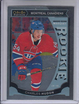 15/16 OPC Platinum Montreal Canadiens Charles Hudon Rookie RC card #M46