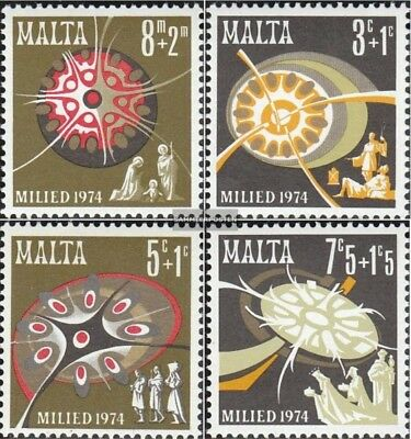 Malta 501-504 (complete.issue.) unmounted mint / never hinged 1974 christmas