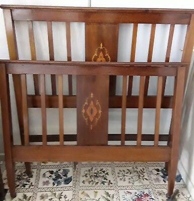 "Beautiful Edwardian Mahogany bed. 48"".wide"