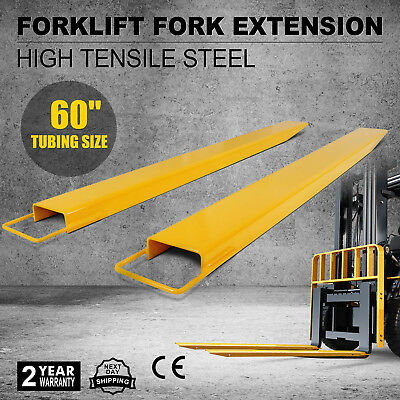 """60"""" x 5.9"""" Forklift Pallet Fork Extensions Pair Lifting Lift Truck Strength"""