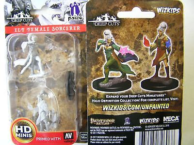 Pathfinder Battles Deep Cuts - Unpainted Miniatures Elf Female Sorcerer - D&D