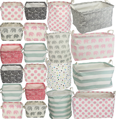 Gisela Graham Canvas Storage Bags Basket Laundry Toys Fabric Storage Bag Tubs