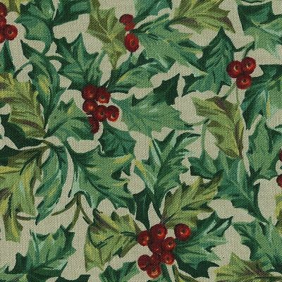 "1 Yard Retired Longaberger  American Holly  Fabric-54"" W New!"