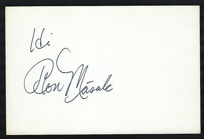 """Ron Masak signed autograph 4""""x 6"""" card actor Murder She Wrote"""