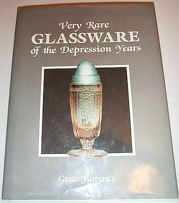 Very Rare Glassware of the Depression Years by Gene Florence CR 1988 with DJ
