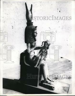 1969 Press Photo Gold bronze statue of ancient Egyptian fertility Goddess, Isis