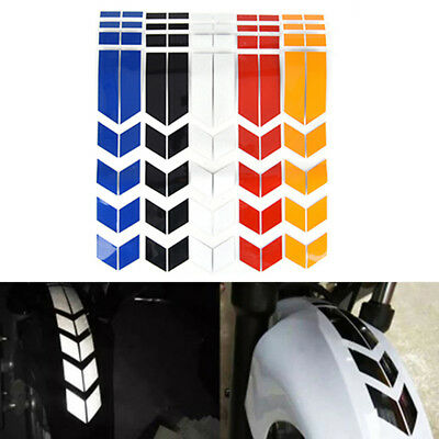 Motorcycle reflective stickers wheel car  decals on fender waterproof decorat TE