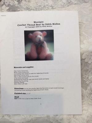 Crochet Teddy Bear Pattern With Detailed Instructions Edith Molina Free Shiping