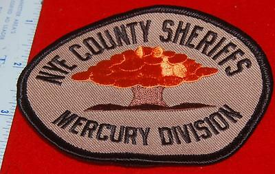 Nye County Nevada Sheriff Mercury Division Patch Atom Bomb Testing Area Patch