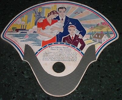 Vintage WW2 era 1940 Advertising Fan Emmitsburg Maryland C.G. Frailey