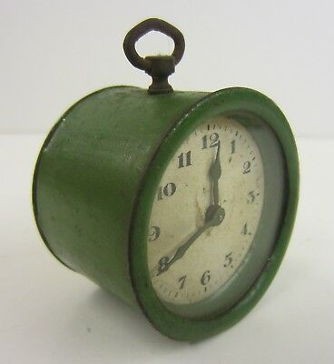 Small Vintage Round Metal Clock / Not Working (see details)