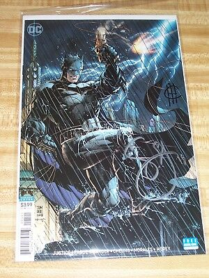 Justice League #1! (2018) Lee Variant! Signed-Scott Snyder & Jim Cheung! NM! COA